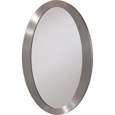 Home decor company contemporary oval mirror nickel home for Oval mirror canada
