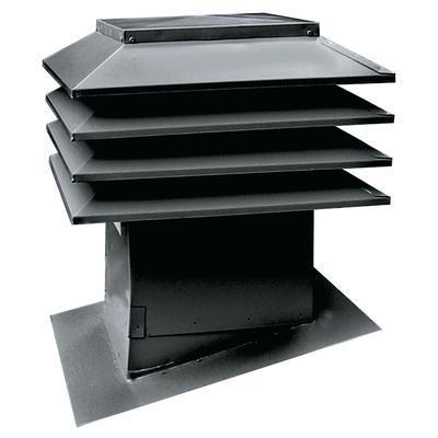 Maximum Sloped Roof Ventilator Model 301 Black Home