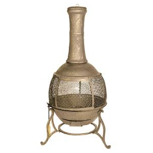 24 d x 54 5 h cast iron chiminea home hardware toronto - Foyer de jardin exterieur ...