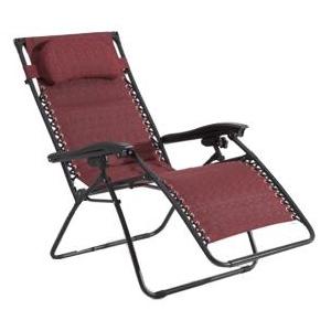 Summer Winds Ambiance Oversized Padded Zero Gravity Chair