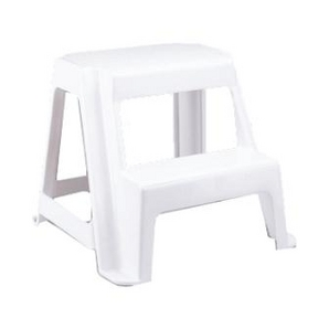 Rubbermaid 2 Step White Roughneck Step Stool Home