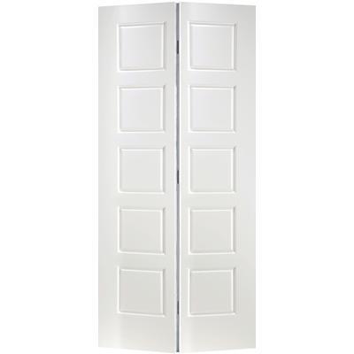 Masonite Primed 5 Panel Equal Smooth Interior Closet