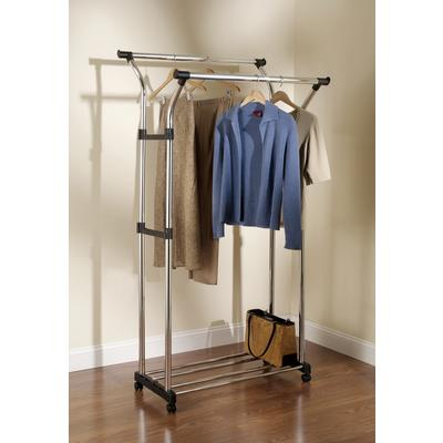 rubbermaid double hang garment rack with wheels home depot canada toronto. Black Bedroom Furniture Sets. Home Design Ideas