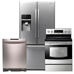 Samsung 3 piece kitchen package stainless steel future - 3 piece kitchen appliance package ...