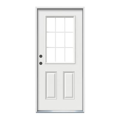 Jeld wen windows doors 32x6 9 16 9 lite entry door rh for Home depot exterior doors on sale