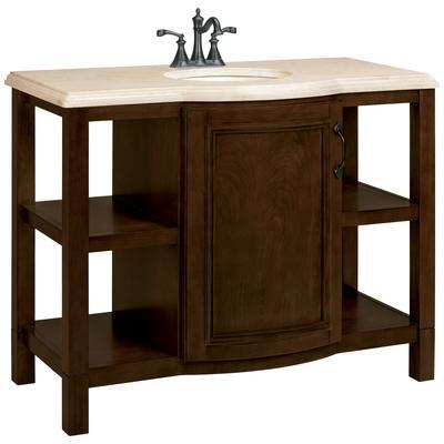 pecan vanity with cr me marble veneer vanity top 43 inch wide
