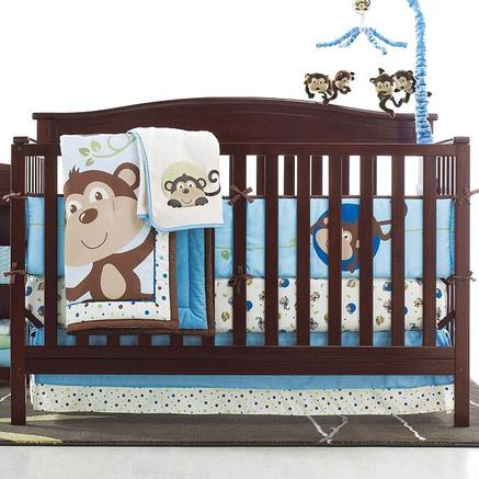 Baby Alive 174 By Nemcor Monkey N Around 5 Piece Crib Set
