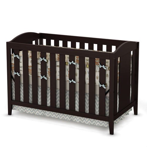 South shore savannah baby crib 3246350 espresso best for Best value baby crib