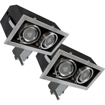 bazz 10 w led recessed fixture kit twin pack costco toronto. Black Bedroom Furniture Sets. Home Design Ideas