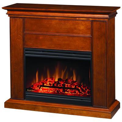 Muskoka Muskoka Harmony Mantel 25 Inch Electric Fireplace With Doors Pecan Home Depot Canada