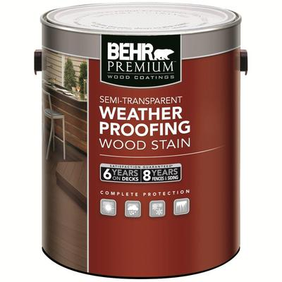 Behr behr premium semi transparent weatherproofing wood stain cedar naturaltone l home for Home depot exterior wood stain