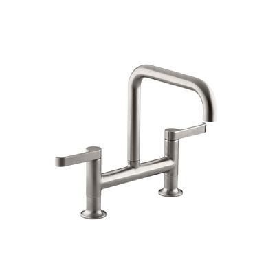 kohler torq deck mount bridge kitchen faucet home depot