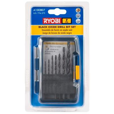 ryobi acc 7 pc black oxide drill bit set home depot canada toronto. Black Bedroom Furniture Sets. Home Design Ideas