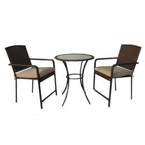 3 Piece Devon Wicker And Steel Patio Bar Set Home Hardware Toronto