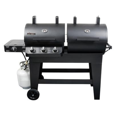 Brinkmann Dual Function Gas/Charcoal Grill & Smoker - Home Depot
