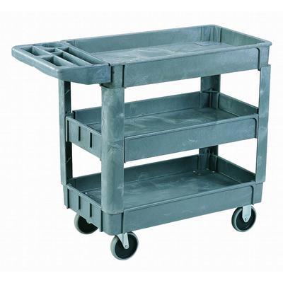 Sandusky Heavy Duty Plastic Utility Cart 3 Shelves Home