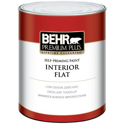 Behr behr premium plus interior flat paint medium base 887 ml home depot canada toronto Home depot interior paint prices