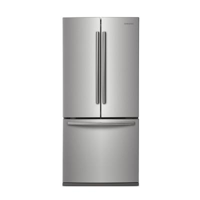samsung 21 6 cubic feet french door refrigerator stainless steel rf220nctasr home depot. Black Bedroom Furniture Sets. Home Design Ideas