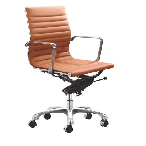 Zuo Lider Low Back fice Chair Terracotta