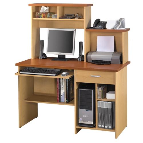 bestar compact computer workstation 86450 brown best buy toronto. Black Bedroom Furniture Sets. Home Design Ideas