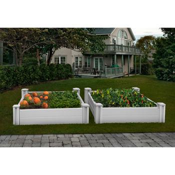 White Vinyl Raised Garden Bed 2 Pack Costco Toronto