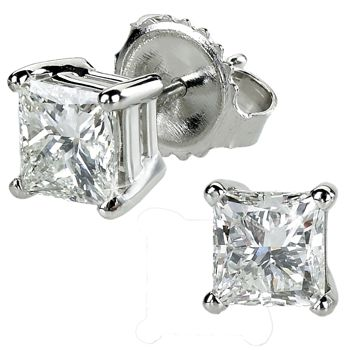 stud earrings costco princess cut stud earrings 1 40 ctw costco 6971